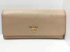PRADA(プラダ) 長財布 - 1MH132 ベージュ レザー