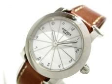 エルメス 腕時計 Hウォッチ HR1.210 レディース 革ベルト/□J 白