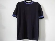 エルメス 半袖セーター サイズM メンズ美品  ネイビー×パープル