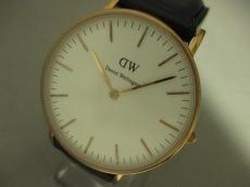 ダニエルウェリントン 腕時計 レディース 革ベルト 白