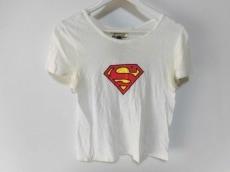 ミュベール 半袖Tシャツ サイズ38 M レディース 白×マルチ SUPERMAN