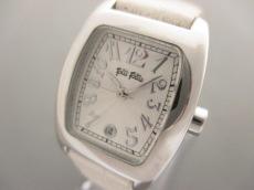 FolliFollie(フォリフォリ) 腕時計 - レディース 革ベルト 白