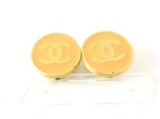 シャネル イヤリング 金属素材 オレンジ×ゴールド ココマーク