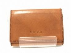 GUCCI(グッチ) カードケース - - ブラウン レザー