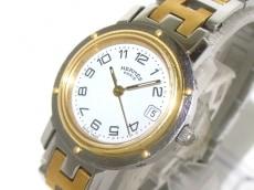 HERMES(エルメス) 腕時計 クリッパー CL4.220 レディース 白