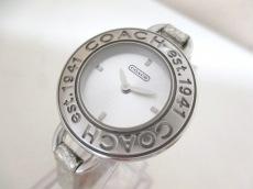 コーチ 腕時計 CA.33.7.14.0465 レディース 革ベルト シルバー