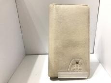 シャネル 長財布 - ライトベージュ シャネルスーツ型押し レザー