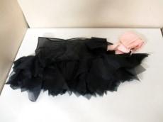 LAPERLA(ラペルラ) 小物美品  黒×ピンク シルク×ポリエステル