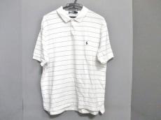 ポロラルフローレン 半袖ポロシャツ サイズLL XL メンズ 白×黒