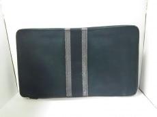 エルメス 長財布 フールトゥ パースGM 黒×グレー キャンバス