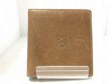 LOEWE(ロエベ) 2つ折り財布 - ブラウン レザー
