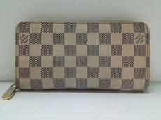ルイヴィトン 長財布 ダミエ ジッピー・ウォレット N60019 アズール