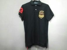 ポロラルフローレン 半袖ポロシャツ レディース 黒×レッド×マルチ