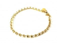 アガタ ブレスレット美品  金属素材×ラインストーン ゴールド