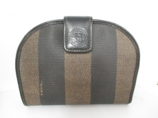 FENDI(フェンディ) 2つ折り財布 ペカン 黒×ベージュ