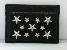 ジミーチュウ カードケース美品  フィリッパ 黒×シルバー レザー