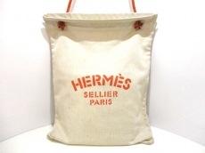 HERMES(エルメス) ショルダーバッグ アリーヌ ベージュ×オレンジ