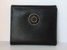 CELINE(セリーヌ) Wホック財布 - 黒 型押し加工 レザー