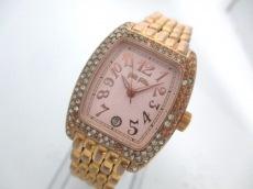 フォリフォリ 腕時計 WF5R081BD レディース ラインストーンベゼル