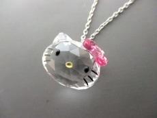 スワロフスキー ネックレス美品  シルバー×クリア×ピンク