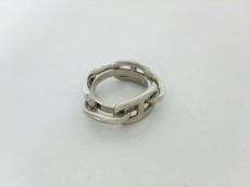 エルメス スカーフリング美品  シェーヌダンクル 金属素材 シルバー