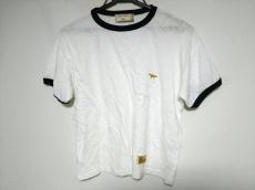 メゾンキツネ 半袖Tシャツ メンズ 白×ネイビー×ゴールド