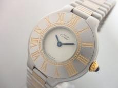 Cartier(カルティエ) 腕時計美品  マスト21 - レディース アイボリー