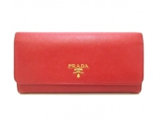 PRADA(プラダ) 長財布 - 1MH132 レッド レザー