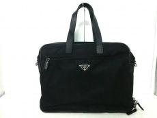 PRADA(プラダ) ビジネスバッグ - 黒 ナイロン×レザー