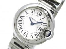 カルティエ 腕時計 バロンブルーSM W69010Z4 レディース SS シルバー