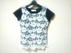 ミシェルマカロン 半袖カットソー サイズS レディース美品  黒×白
