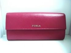 FURLA(フルラ) 長財布 パープル レザー