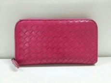 ボッテガヴェネタ 長財布 イントレチャート B00422480E ピンク