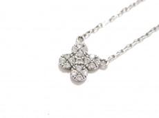 AHKAH(アーカー) ネックレス美品  K18WG×ダイヤモンド 0.07カラット