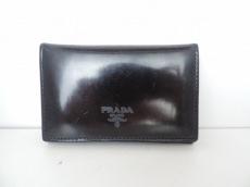 PRADA(プラダ) カードケース - ダークネイビー レザー