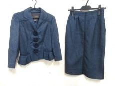 ルイヴィトン スカートスーツ サイズ36 S レディース ネイビー