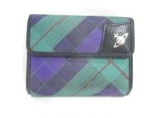 ヴィヴィアンウエストウッド 3つ折り財布 グリーン×黒×マルチ