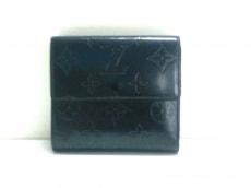 ルイヴィトン Wホック財布 モノグラムマット美品  M65115 ブルー
