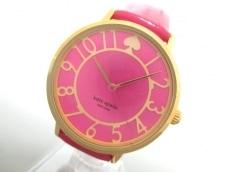 ケイト 腕時計 0403 レディース LIVE COLORFULLY/革ベルト ピンク