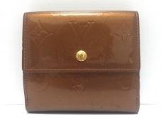 ルイヴィトン Wホック財布 モノグラムヴェルニ M91170 ブロンズ