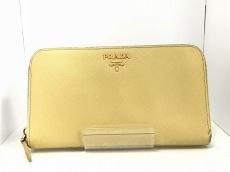 PRADA(プラダ) 長財布 - 1M0506 イエロー ラウンドファスナー レザー