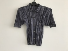 プリーツプリーズ 半袖シャツブラウス サイズ4 XL レディース美品