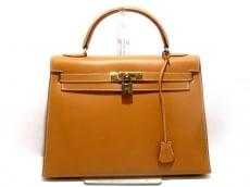 エルメス ハンドバッグ ケリー32 ナチュラル 外縫い/ゴールド金具