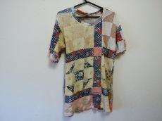 キャピタル 半袖Tシャツ レディース イエロー×ネイビー×マルチ
