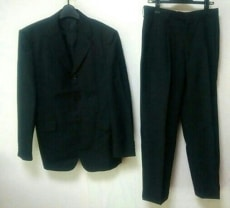 JUN MEN(ジュンメン) シングルスーツ メンズ 黒 ストライプ