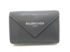 バレンシアガ 3つ折り財布美品  ペーパーミニウォレット 391446