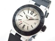 ブルガリ 腕時計 アルミニウム AL29TA レディース ラバーベルト