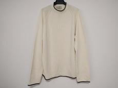 エルメス 長袖セーター メンズ美品  アイボリー×黒 ハイネック
