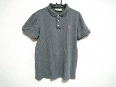 MAISON KITSUNE(メゾンキツネ) 半袖ポロシャツ メンズ美品  グレー