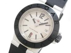 ブルガリ 腕時計 アルミニウム AL29A レディース ラバーベルト